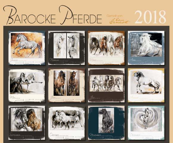 BOISELLE カレンダー2018 Lサイズ Baroque Horses(バロックホース)